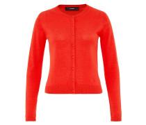 Basic-Cardigan aus Feinstrick rot