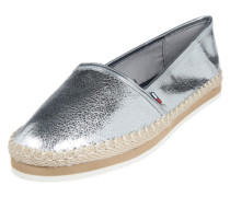 Loafer in Metallic-Optik silber