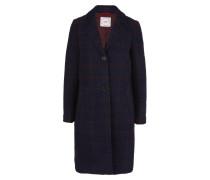 Mantel kobaltblau / weinrot