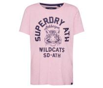 Shirt 'Mascot Entry Tee' nachtblau / rosa
