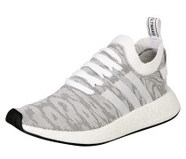 Sneaker hellgrau / orange