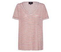 T-Shirt 'tessi' rostbraun / weiß
