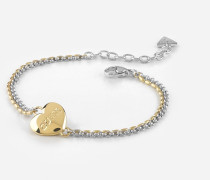 Armband 'Unchain My Heart' gold / silber