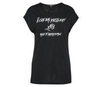 T-Shirt 'Coeur' schwarz
