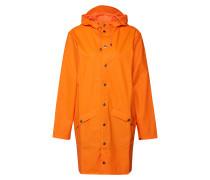 Long-Mantel mit Kapuze orange