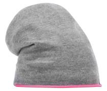 Beanie Mütze hellgrau / pink