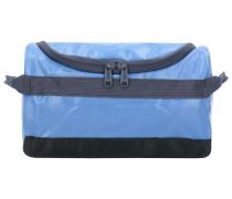 Kulturbeutel 24 cm blau / dunkelgrau