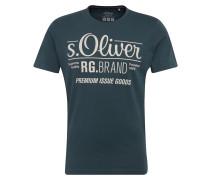 T-Shirt mit Front-Print grün