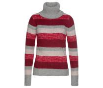 Pullover rot / grau