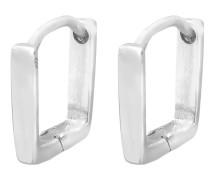 Ohrringe Geo Viereck silber