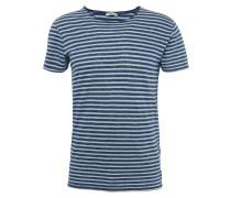 T-Shirt 'jeniga' marine / weiß