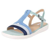 Sandalen blau / hellblau / jade / weiß