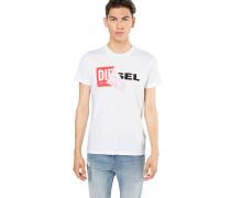 T-Shirt 't-Diego-Qa' rot / schwarz / weiß