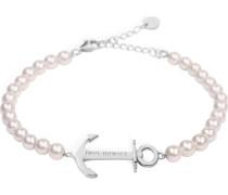 Armkette 'Anchor Spirit' rosa / silber