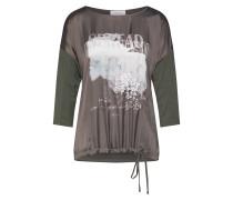 Shirt silbergrau / dunkelgrün