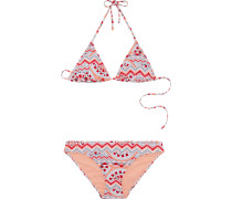 Bikini 'lana' hellblau / koralle / rot