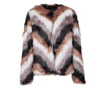 Jacke 'unicorn Coat' braun / grau / weiß