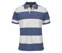 Poloshirt 'Oxford Stripe Rugger' blau / weiß