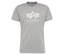 Print-Shirt graumeliert / weiß