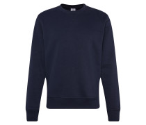 Sweatshirt 'sueded Fleece Crew' navy