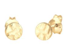 Ohrringe Geo Plättchen gold