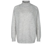 Strickpullover 'funnel Neck' hellgrau