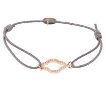 Armband 'Floris' taupe / rosé