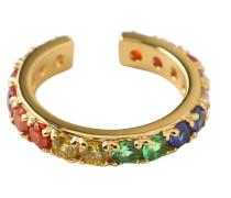 Ear Cuff 'Rainbow Pave' gold
