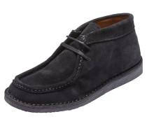 Velourleder-Stiefel schwarz