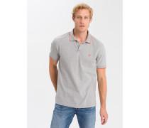 Poloshirt grau / orange