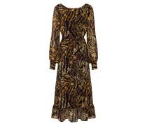Kleid 'TasnimGZ' dunkelgelb / schwarz