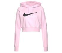 Sweatshirt rosa / schwarz