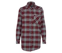 Blusenhemd 'Cilla' weinrot / weiß