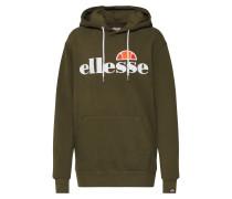 Sweatshirt 'Torices' khaki / orange / weiß