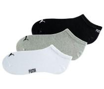 Füßlinge (6 Paar) grau / schwarz / weiß