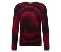 Pullover 'Shimo' rot / schwarz