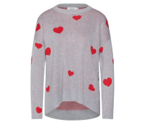 Pullover 'amour' hellgrau