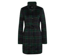 Mantel nachtblau / grün / apfel