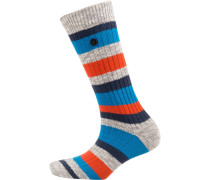 Socken dunkelblau / grau / rot