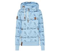 Casual Pullover hellblau / dunkelblau