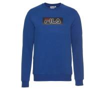 Sweatshirt blau / feuerrot / schwarz / weiß