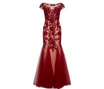 Kleid 'Ivory' nude / bordeaux