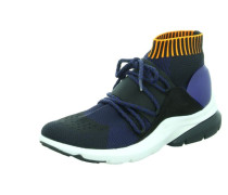 Sneakers blau / orange / schwarz