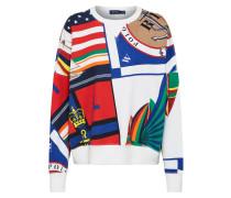 Sweatshirt 'print Cn-Long Sleeve-Knit' mischfarben