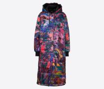Mantel mischfarben / schwarz