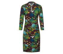 Kleid dunkelgrün / mischfarben