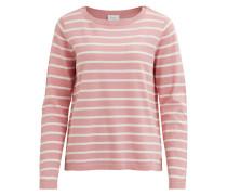 Feinstrick Pullover 'Vistrike' rosa / weiß