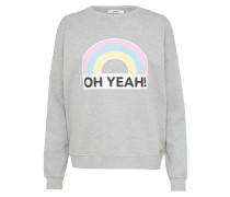 Sweatshirt 'Rainbow V-Shape' hellgrau