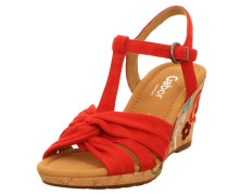 Sandaletten dunkelrot