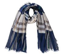 Schal beige / blau / grau